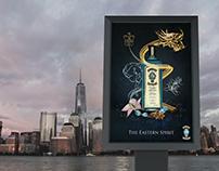 Affiche de publicité pour le Bombay Sapphire