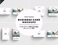 4 Business Card Mock ups