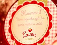 Identidade Visual e Papelaria para a festa da Luma