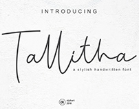 """introducing our new font called """"Tallitha"""" #fontself"""