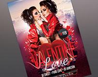 Valentine Love Flyer Template