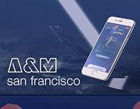 A&M San Francisco // app ui design