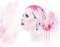 Watercolor of Rayon