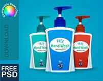 FREE Plastic Liquid Soap Bottle Mockup PSD