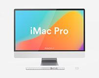 White iMac Pro Mockup