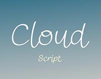 Cloud Script (Free Font)