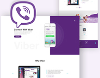 Viber Landing Page Concept