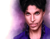 Prince Digital Oil Painting by Wayne Flint