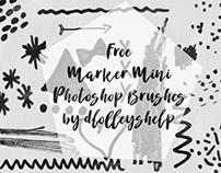 FREE MARKER MINI PHOTOSHOP BRUSHES