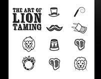 Set of Lion Taming Pictograms