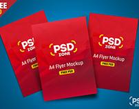 Freebie : Multiple Flyer Mockup PSD