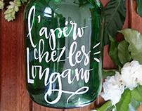 Bottle lettering
