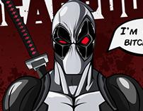 DEADPOOL X-FORCE VARIANT ART PRINT