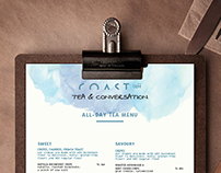 Menu Design - Coast Cafe
