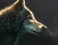 Wolf & Fox speedpaintings