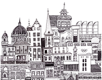 A week in Berlin - illustrated cityscape