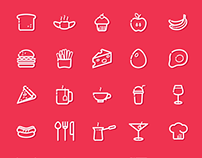 30+ Delicious Kitchen, Food & Cooking Icons