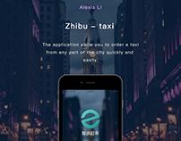 Zhibu-taxi App Design