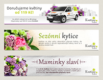 Banners for Flower delivery service