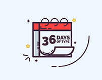 36 Days of Type Illustrations