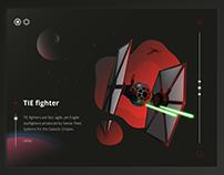 TIE fighter illustration process