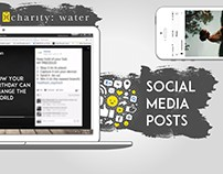 charity: water - social media posts