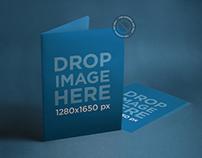 Branding Mockup Featuring a Set of Folders