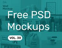 Free PSD Mockups vol. 30