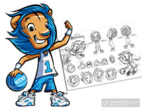 Hercules the lion / Cartoon Mascot Character.