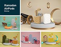 Ramadan AirPods Mockup