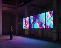 Meandering River - audiovisual art installation