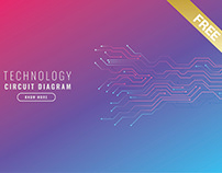 Technology Banner (Free Vector)