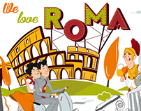 Illustration for take away cups - Rome Coffee Bar
