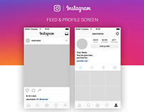 FREE | Instagram Feed & Profile Screen UI – 2016
