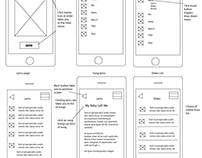 Wireframes for mobile website