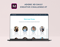 XD Daily Creative Challenge #7 Team Page for an Agency
