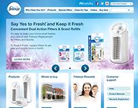 Website - Febreze