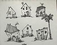 2018 1~2 urbansketch. Drawing