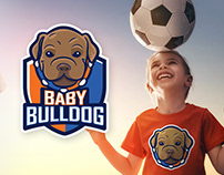 Baby Bulldog — Kids Team Soccer Logo