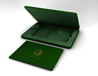 Al Waseela VIP Brochure Leather Box + Stationery Design