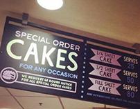 Bakery Custom Cakes Sign