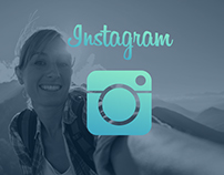 The modified design of the application Instagram