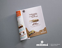 "Milma ""Ghee Biscuit"" Magazine Artwork"