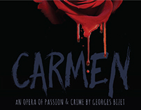 Poster for the Opera Carmen by Georges Bizet