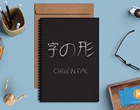 ORIENTAL Font Design