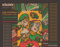 Reggae Gig Poster Design   Krunk   January 2017