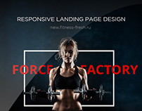 Force Factory Lnding Page Design