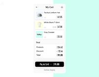 My Cart · App screen Concept