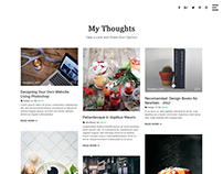 Simple Blog Masonry PSD Design Free.