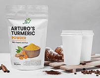 Arturo's Turmeric Powder - Packaging design